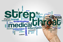 Strep throat word cloud Royalty Free Stock Images