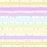 Strepen de achtergrond van de Pastelkleur Stock Fotografie