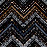 Strepen helder stammen naadloos patroon met zigzag Royalty-vrije Stock Afbeeldingen
