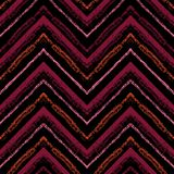 Strepen helder stammen naadloos patroon met zigzag Stock Foto's