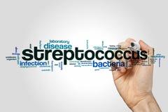 Streptococco nuvola di parola fotografia stock