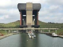 Strepy-Thieu łódkowaty dźwignięcie (Belgia) Zdjęcia Royalty Free