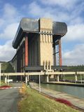 Strepy-Thieu łódkowaty dźwignięcie (Belgia) Fotografia Stock