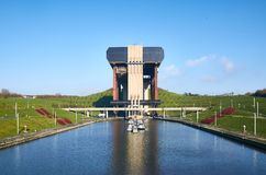 Strepy-Thieu boat lift, Belgium Royalty Free Stock Images