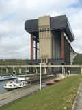 Strepy-Thieu boat lift (Belgium) Royalty Free Stock Images