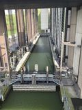 Strepy-Thieu boat lift (Belgium) Stock Photo