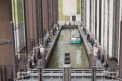 Strepy-Thieu boat lift Stock Image