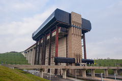 Strepy-Thieu boat lift Stock Photos