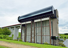 Strepy-Thieu boat lift on the Canal du Centre, Belgium Stock Images