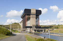Strepy-Thieu boat lift on the Canal du Centre. Wallonia ,Belgium. This is the higest boat lift in the world Stock Photos