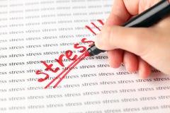 Stres! Fotografia Stock