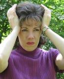 stres czuciowa kobieta Obrazy Stock