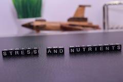 Stres i odżywki na drewnianych blokach obraz royalty free