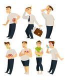 Stres, illnesses i choroba odosobniony charakter ilustracja wektor