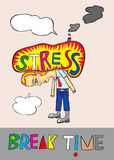 Stres ilustracja Obraz Royalty Free