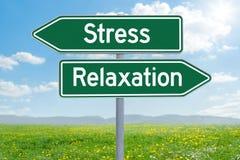 Stres lub relaks fotografia royalty free