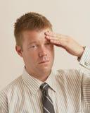 Stres migrena Zdjęcia Royalty Free