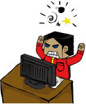 Stres na pracie royalty ilustracja