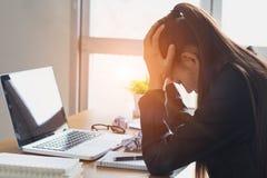 Stres przy pracą, niepowodzenie pracować, biznesowy niepowodzenie obraz royalty free