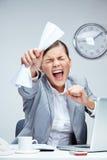 Stres przy pracą Fotografia Stock