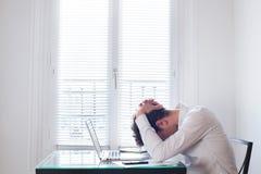 Stres przy pracą Zdjęcie Royalty Free