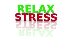 Stres, Relaksuje na bielu ilustracja wektor