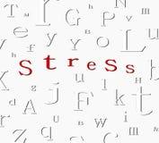 stres tła alfabet Zdjęcia Stock