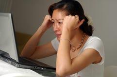 stres w domu Zdjęcie Royalty Free
