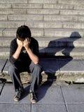 stres z mężczyzną Zdjęcia Stock