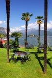 STRESA, ITALIA - 11 maggio 2018 - scena Stresa, località di soggiorno famosa di estate sulla riva occidentale del lago Maggiore Immagine Stock