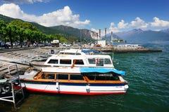 STRESA, ITALIE - 11 mai 2018 - scène Stresa, station de vacances célèbre d'été sur le rivage occidental du lac Maggiore Images stock