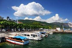 STRESA, ITALIE - 11 mai 2018 - scène Stresa, station de vacances célèbre d'été sur le rivage occidental du lac Maggiore Image libre de droits