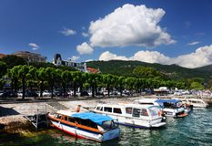 STRESA, ITALIE - 11 mai 2018 - scène Stresa, station de vacances célèbre d'été sur le rivage occidental du lac Maggiore Images libres de droits