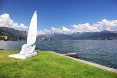 STRESA, ITALIE - 11 mai 2018 - scène Stresa, station de vacances célèbre d'été sur le rivage occidental du lac Maggiore Photos stock