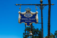 STRESA, ITALY - JULY 14, 2016. Stresa view on Regina Palace Hotel, a town on the Maggiore Lake. Stock Photos