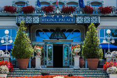 STRESA, ITALY - JULY 14, 2016. Stresa view on Regina Palace Hotel, a town on the Maggiore Lake. Royalty Free Stock Image