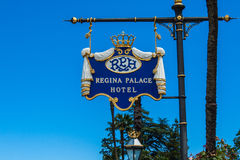 STRESA, ITALY - JULY 14, 2016. Stresa view on Regina Palace Hotel, a town on the Maggiore Lake. Royalty Free Stock Photos