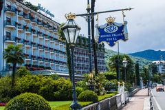 STRESA, ITALY - JULY 14, 2016. Stresa view on Regina Palace Hotel, a town on the Maggiore Lake. Royalty Free Stock Photography