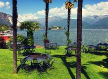STRESA, ITALY - 11MAY, 2018 - summer scene Stresa, famous resort on the western shore of Maggiore Lake Royalty Free Stock Image