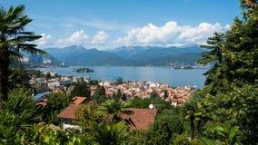 Stresa, Lago Maggiore, Италия Стоковые Фотографии RF