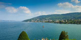 Stresa seen from Isola Bella Royalty Free Stock Images