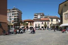 Stresa stadsfyrkant, Italien fotografering för bildbyråer