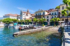 Stresa, Verbania, Italia - 21 aprile 2017: Vista dell'isola Bella, Fotografia Stock Libera da Diritti