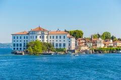 Stresa, Verbania, Italia - 21 aprile 2017: Vista dell'isola Bella, Immagini Stock Libere da Diritti