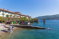 Stresa, Verbania, Italia - 21 aprile 2017: Vista dell'isola Fisherm Immagine Stock Libera da Diritti