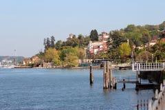 Stresa wharf Royalty Free Stock Images