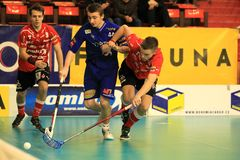 Stresovice vs. Vitkovice - floorball Royalty Free Stock Images