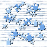 Stress. Illustration depicting flying puzzle pieces Stock Image