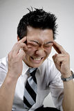 Stress. Ed out business man upset Royalty Free Stock Photo