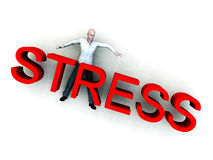 Stress 2. An image of a person who is literally overwhelmed by the danger of stress Royalty Free Stock Image
